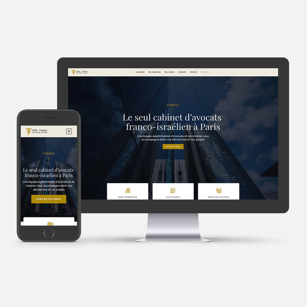 Fidelys site Internet homepage